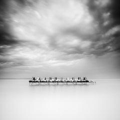 Paddelboot, Balaton, Hungary, minimalism, black and white photography, landscape