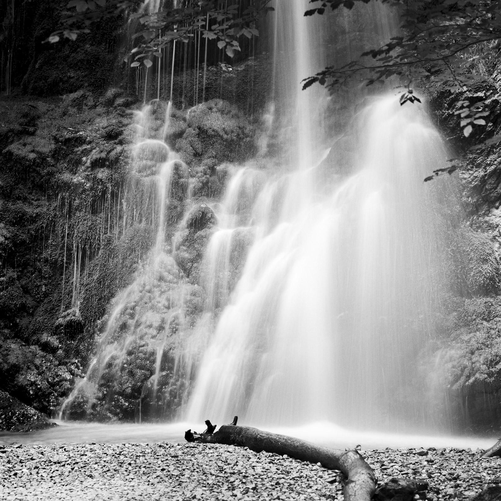 Waterfall, Bavaria, Germany, fine art black and white photography, landscapes