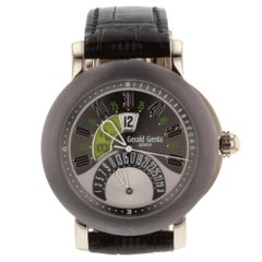 Gerald Genta Biretro 18 Karat White Gold and Tantalum Men's Watch BSP.Y.66