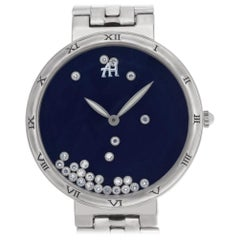 Gerald Genta Champagne G3346A, Blue Dial, Certified and Warranty