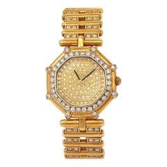 Gerald Genta Octagonal 18 Karat Yellow Gold with Diamonds Watch Quartz G.2460.7