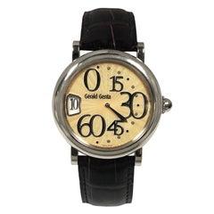 Gerald Genta Retrograde Minutes Jump Hour Automatic Automatic Wristwatch