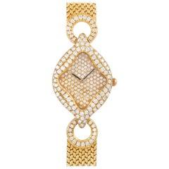 Gerald Genta Royama 18 Karat Yellow Gold Diamond Watch 21543