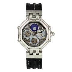 Gerald Genta Success Platinum Perpetual Calendar 3359.4 Skeleton Men's Watch