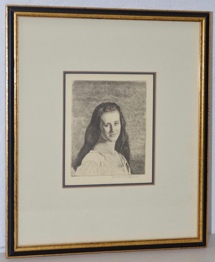 "Gerald Brockhurst (1890-1978) ""Anais"" Pencil Signed Etching c.1930"