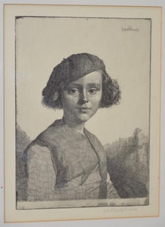 "Gerald Brockhurst (1890-1978) ""Fabian"" Pencil Signed Etching c.1921"