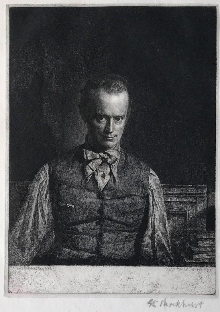 Henry Rushbury, A.R.A., R.E., R.W.S., No. 2 - Modern Print by Gerald Leslie Brockhurst