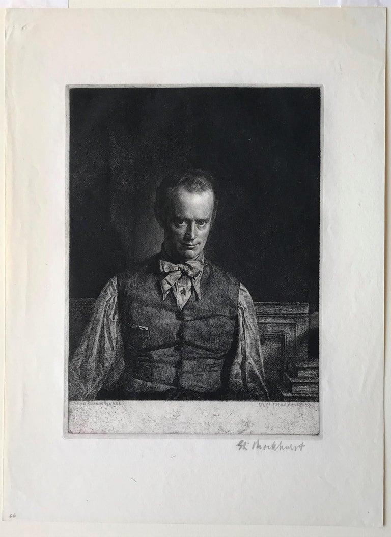 Henry Rushbury, A.R.A., R.E., R.W.S., No. 2 - Gray Figurative Print by Gerald Leslie Brockhurst