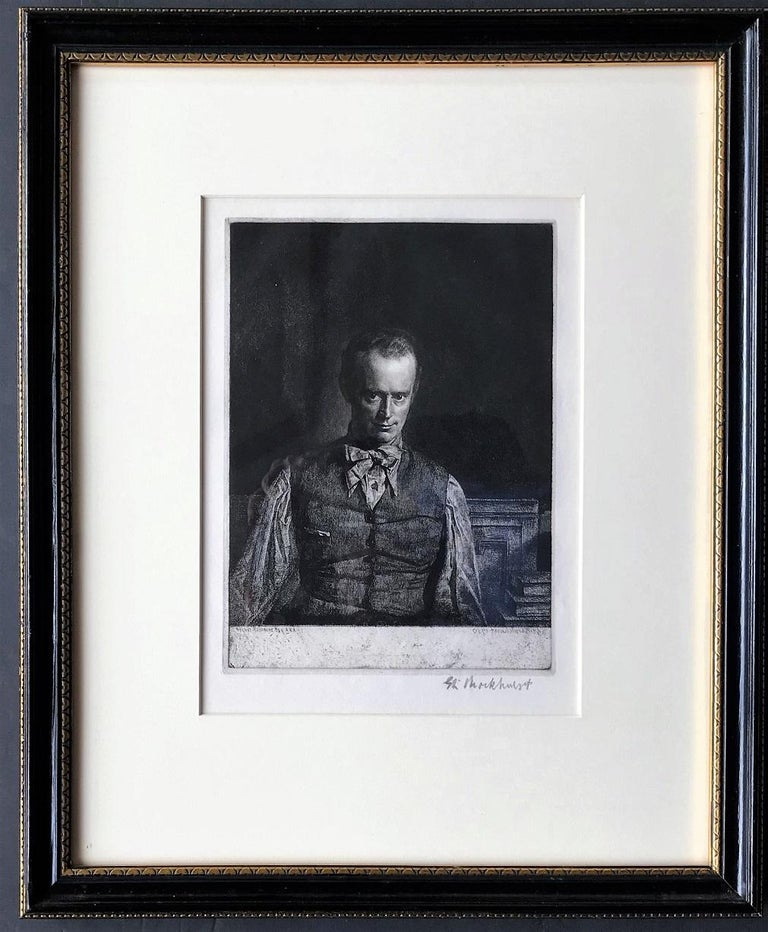 Henry Rushbury, A.R.A., R.E., R.W.S., No. 2. 1930. Etching. Fletcher 66. Published state. 10 x 7 3/8 (sheet 14 1/2 x 10 3/4). Edition 111. Illustrated in 'Royal Academy Illustrated' 1930; 'Fine Prints of the Year' 1930; Print Collector's Quarterly