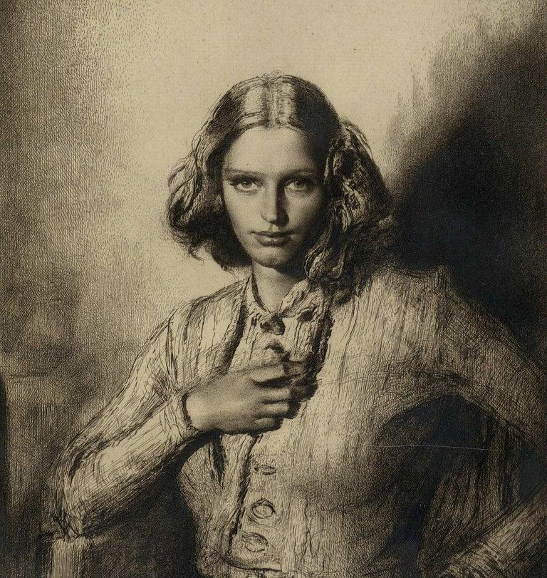 Jeunesse Doree (the gilded youth Kathleen Nancy Woodward / artist's second wife) - Print by Gerald Leslie Brockhurst