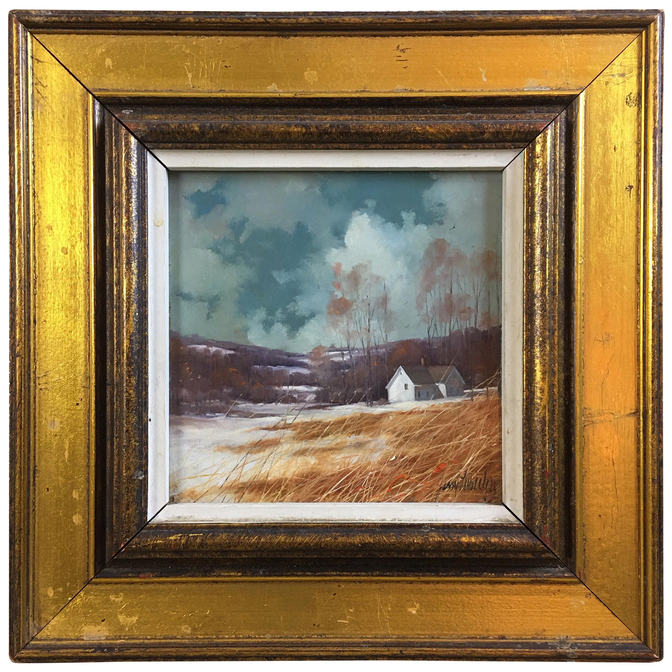 Gerald Lubeck Oil on Masonite Landscape