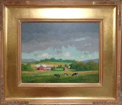 Impressionistic Vermont Oil Painting by Gerald Lubeck Salmagundi Label