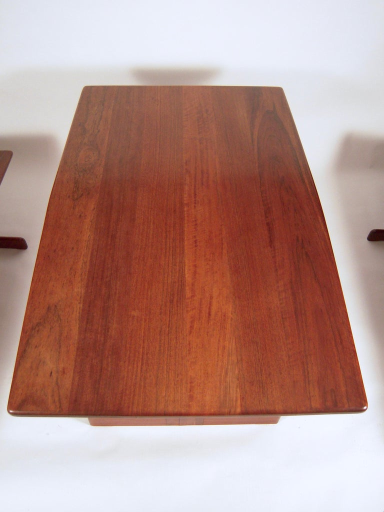 Gerald McCabe Dining Walnut Table with Two Benches For Sale 4