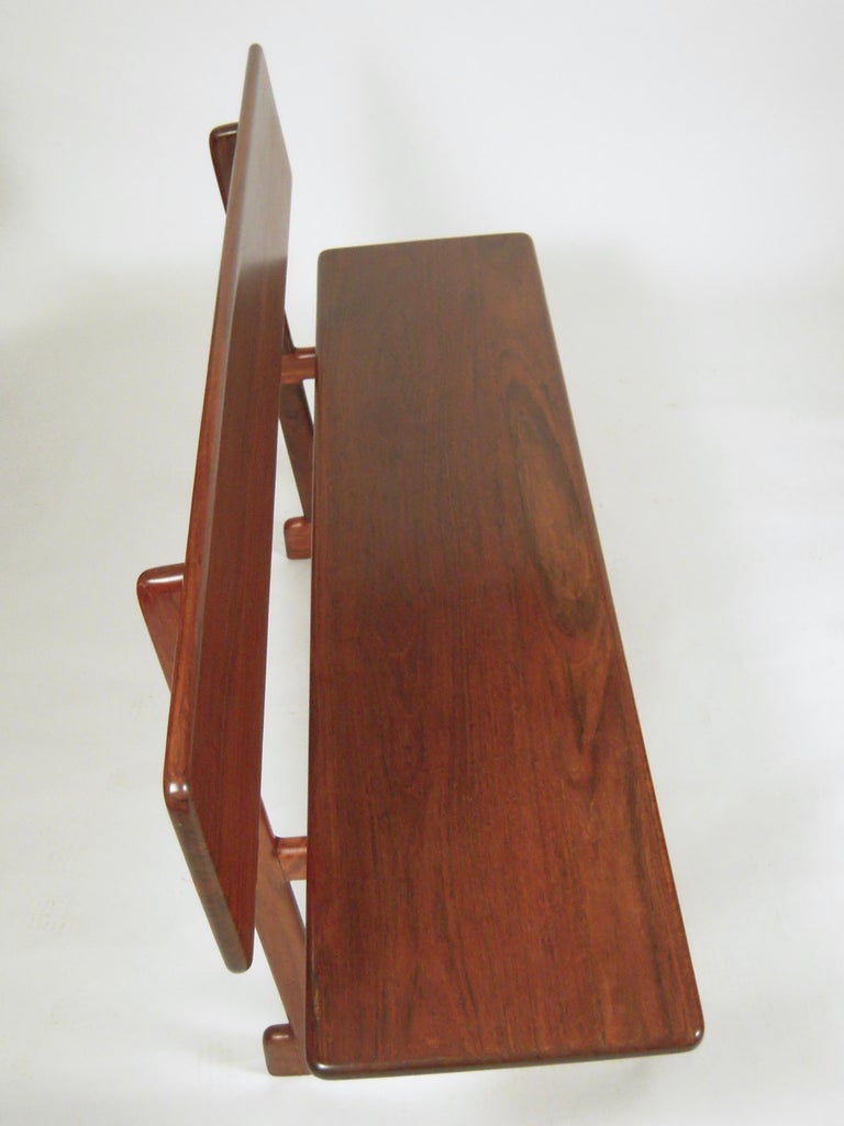 Late 20th Century Gerald McCabe Dining Walnut Table with Two Benches For Sale
