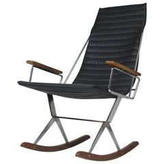Gerald McCabe for Brown Saltman Steel and Walnut Rocking Chair