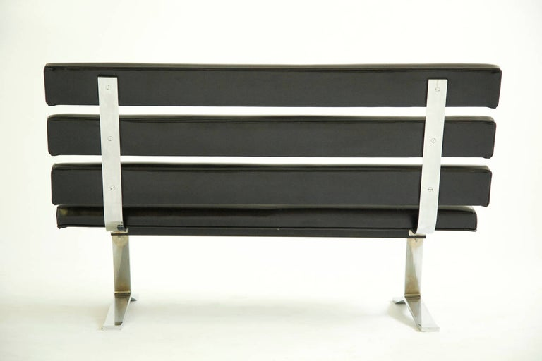 Plated Gerald McCabe Settee or Bench For Sale