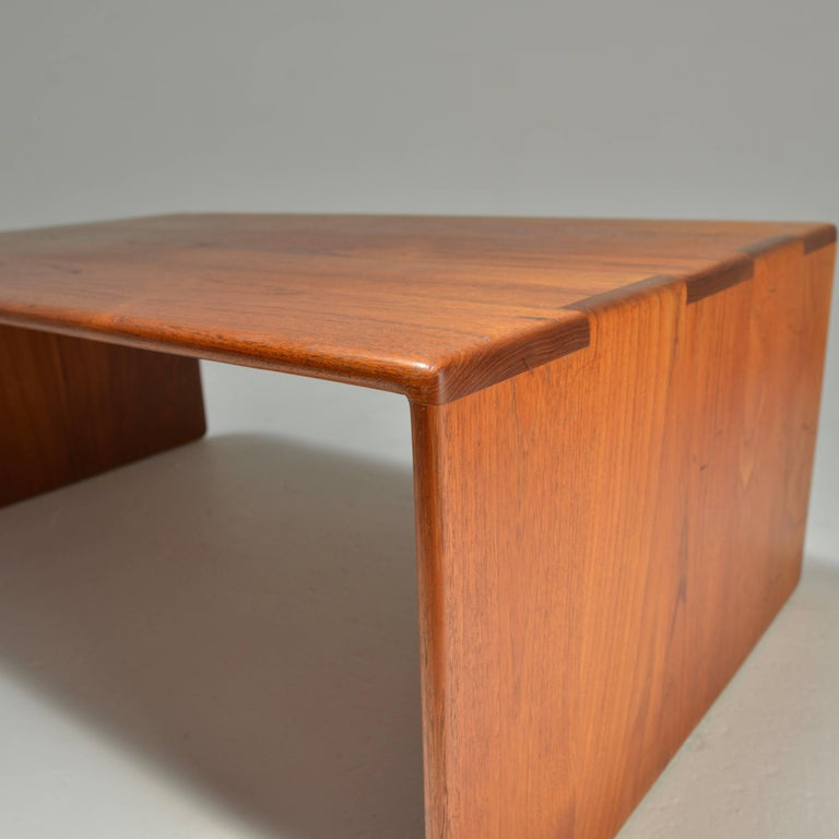 Gerald McCabe Solid Teak Coffee Table For Sale at 1stdibs