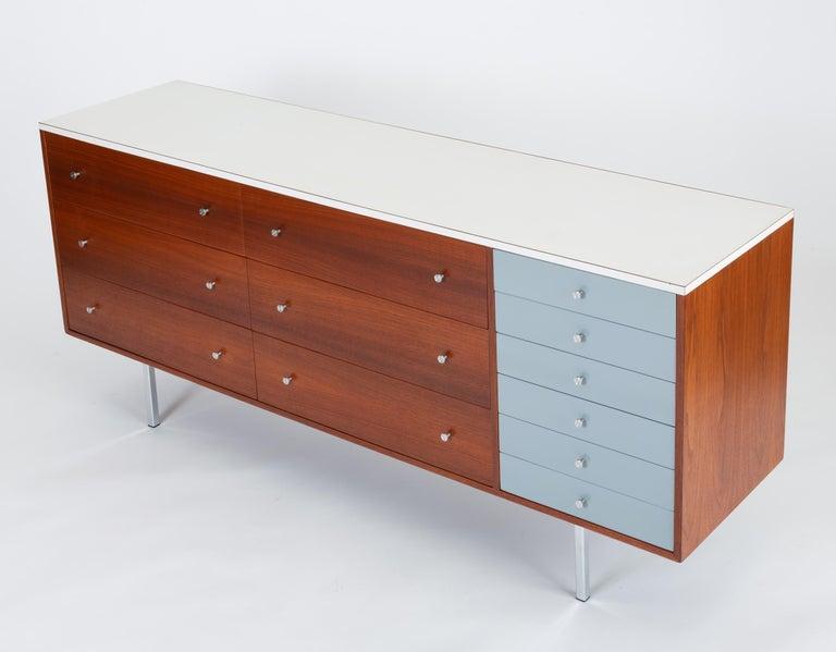 Mid-Century Modern Gerald McCabe Twelve-Drawer Dresser with Laminate Top For Sale