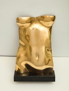 Contemporary  Sculpture Gold Torso By Gerald Siciliano