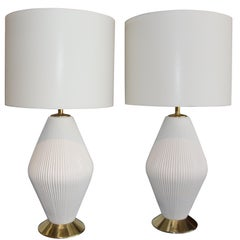 Gerald Thurston for Lightolier, 1950s, Porcelain Lamps
