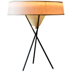 Gerald Thurston for Lightolier Tripod Base Table Lamp, circa 1955