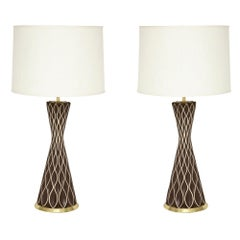 Gerald Thurston Lamps, Porcelain and Brass