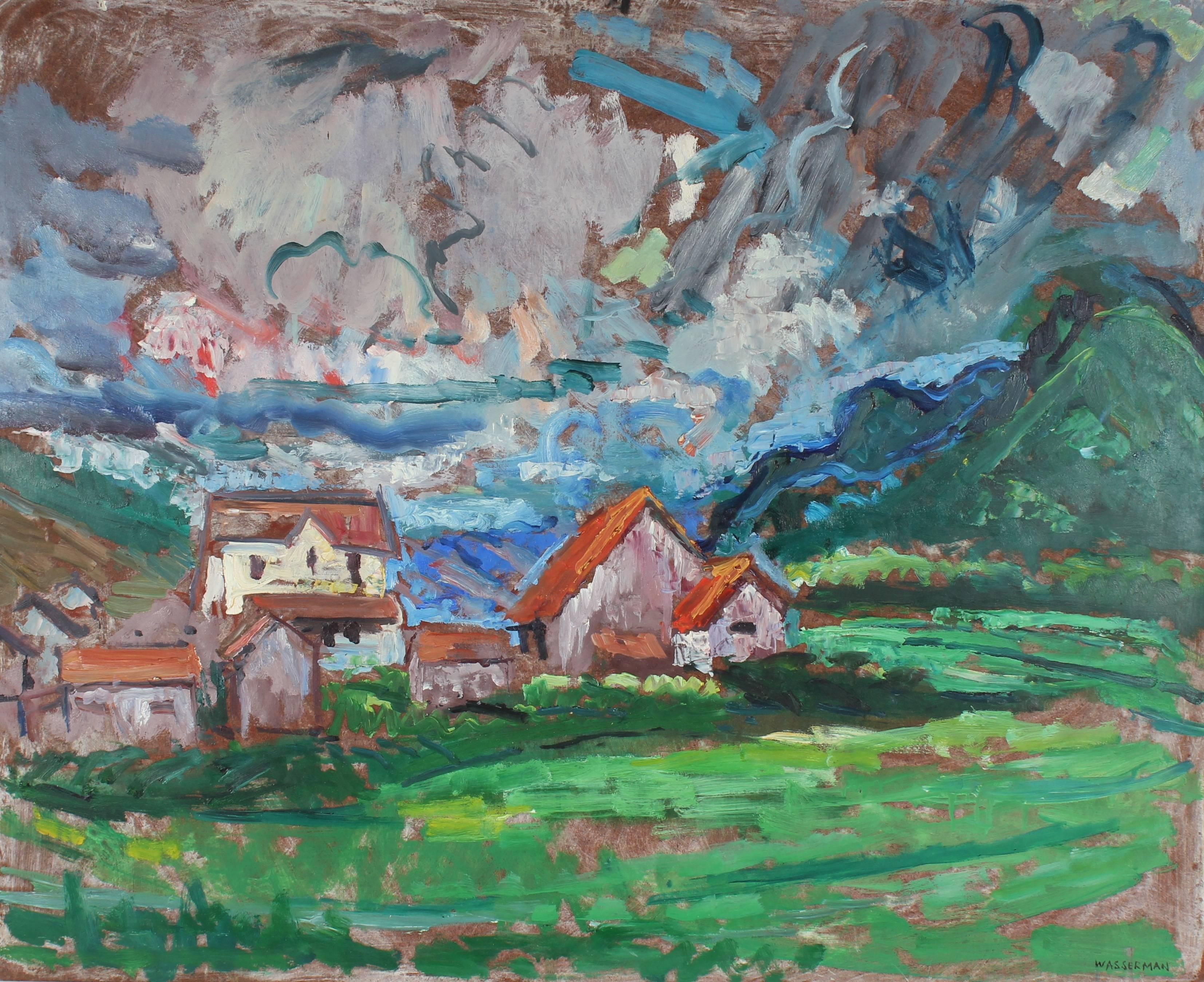 Carmel Countryside Landscape, Oil Painting, Mid-Century