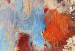 Colorful Abstract Mid-Late 20th Century Oil and Monotype