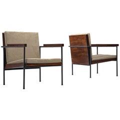 Geraldo de Barros Pair of Lounge Chairs in Jacaranda Wood