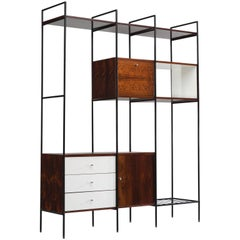 Geraldo de Barros Wall Unit in Rosewood and Steel