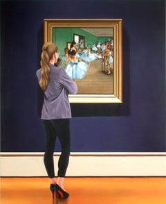 Ballet Dance Class, Painting, Acrylic on Wood Panel