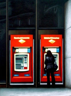Bank Of America, Painting, Acrylic on Wood Panel