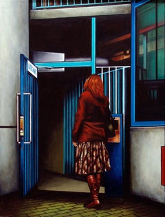 Door, Painting, Acrylic on Wood Panel