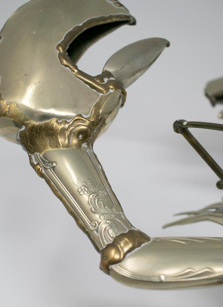 Gerard Bouvier Metal Cutlery Lobster Sculpture, circa 1970 8
