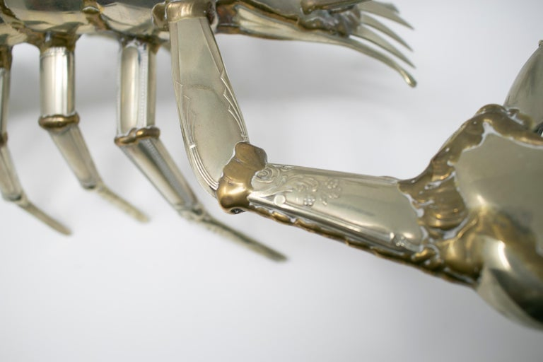 Gerard Bouvier Metal Cutlery Lobster Sculpture, circa 1970 11