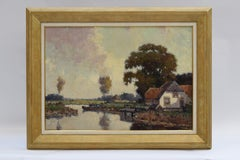 Dutch Landscape near the water - Classical Art Oil on Canvas