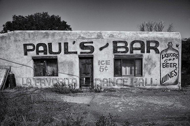 Gerard Giliberti Black and White Photograph - Paul's Bar, Taos NM
