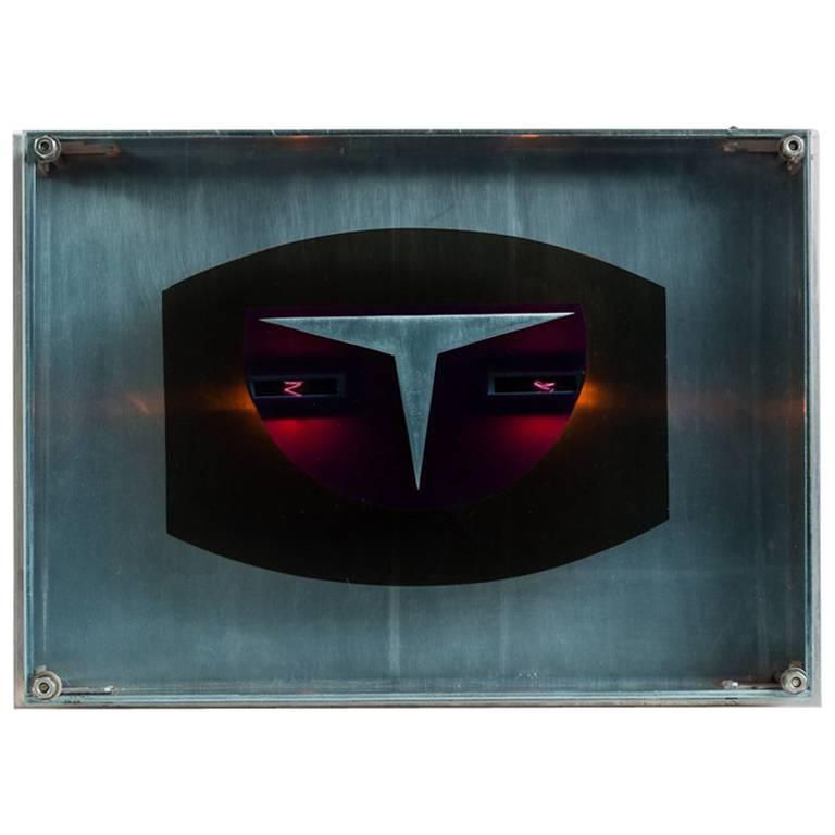 """Gérard Haas """"Timescapes: LED Chronotope"""", Light Sculpture, France, circa 1970s For Sale"""