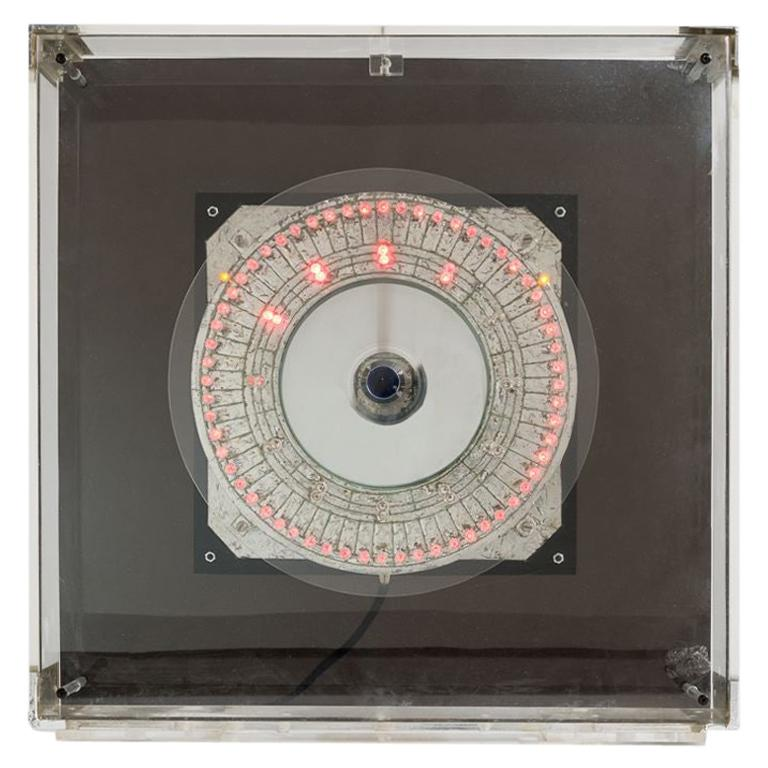 """Gérard Haas """"Timescapes, LED Chronotope"""", Light Sculpture, France, circa 1970s For Sale"""