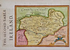 17th Century Hand Colored Map of Southeastern Ireland by Mercator and Hondius