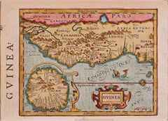 17th Century Hand-Colored Map of West Africa by Mercator/Hondius