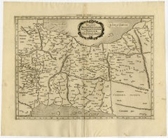 Ptolemaic map - Persian Gulf to the Caspian Sea by Mercator - Engraving - 17th c