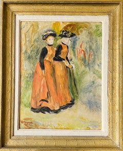 French impressionist painting - Les Elegantes -  Degas Women Lady Belle Epoque