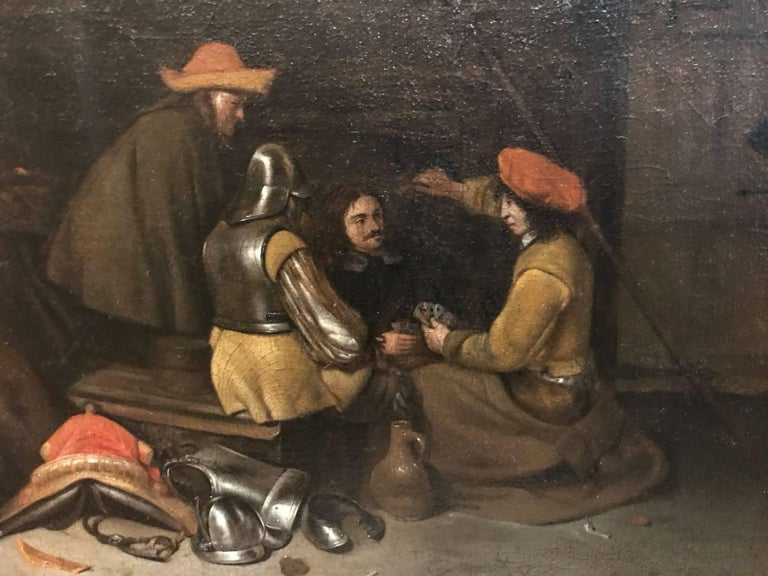The Card Game - Painting by Gerard ter Borch the Younger
