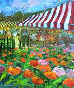 """Les Lumieres de la Boulevard"", Gerard Valtier, Oil on Canvas, French, 28x23 in."