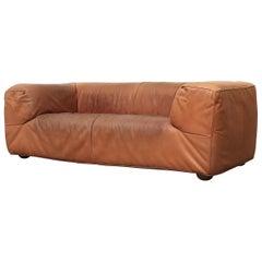 Gerard Van Den Berg Cognac Leather Sofa
