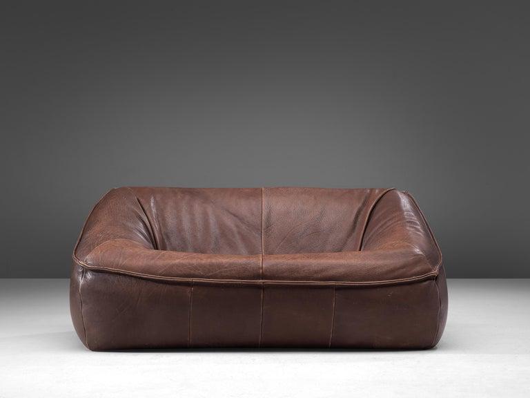 Dutch Gerard Van Den Berg for Monti 'Ringo' Sofa in Buffalo Leather For Sale