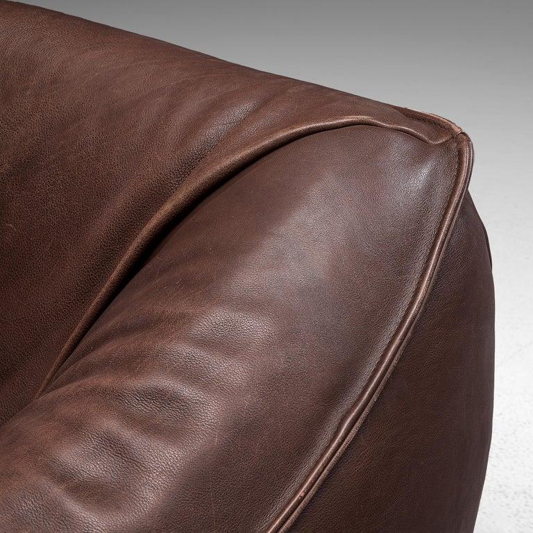 Gerard Van Den Berg for Monti 'Ringo' Sofa in Buffalo Leather In Good Condition For Sale In Waalwijk, NL
