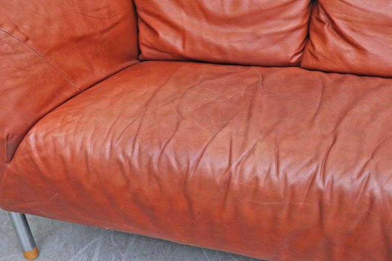 Gerard van den Berg for Montis Leather Sofa For Sale 6