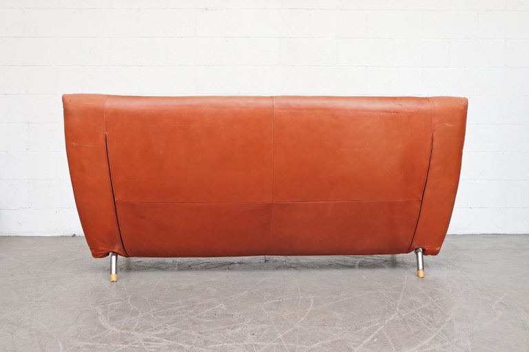 Brushed Gerard van den Berg for Montis Leather Sofa For Sale